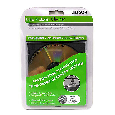 Laser Lens Cleaner for DVD CD Game Players with Eight Brush Carbon System