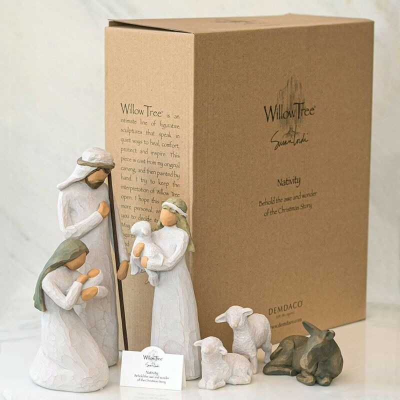 Willow Tree Nativity Set 6-piece Sculpted Hand-painted, 26005 Nativity Figures