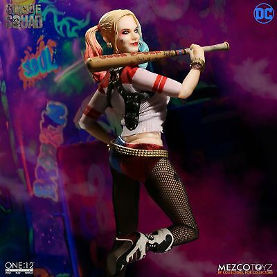 """One: 12 Collective DC Suicide Squad HARLEY QUINN 6"""" Figure Mezco 1/12 IN STOCK"""