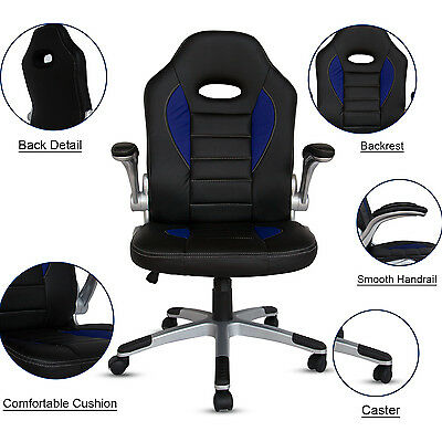 Official Racing Style Bucket Seat Chair Home Office Swivel Desk Chair