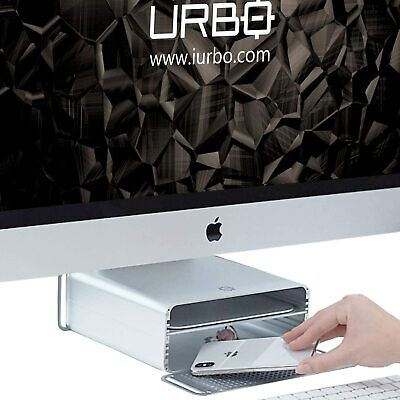 Urbo Etna Ergonomic Space-Maker Height Adjustable Monitor Stand for Apple iMac