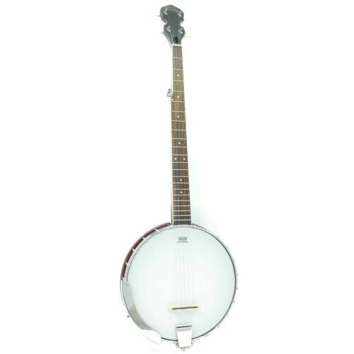 5 String Koda FBJ2 Open Back Banjo 22 Frets 24 Brackets Plastic Neck & Resonator
