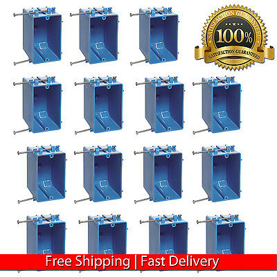 15 Pcs Single Gang 18 Wall Outlet Light Switch Plastic Electrical Box New Work