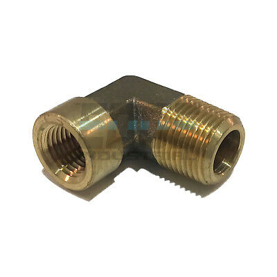 "FORGED BRASS 90 DEGREE REDUCING STREET ELBOW 1/4"" FEMALE NPT X 3/8"" MALE NPT"