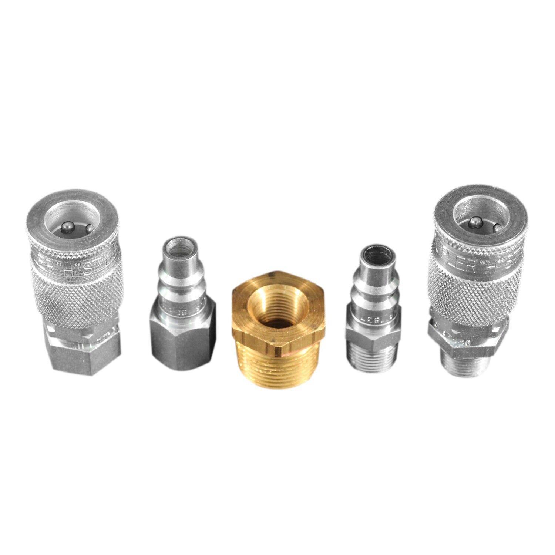 "Milton S-223 5 Piece ""H"" Style Reducer Coupler Kit - Free S&H"