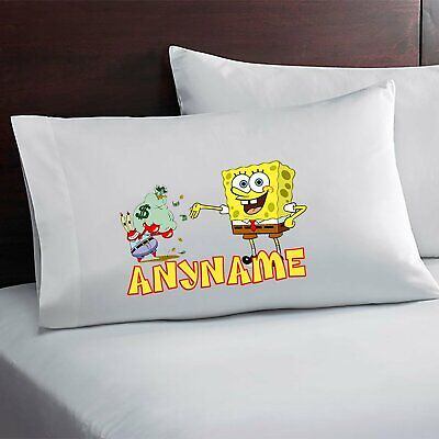 Spongebob Personalized Pillow Case Custom Made w. Your Name for sale  Shipping to India