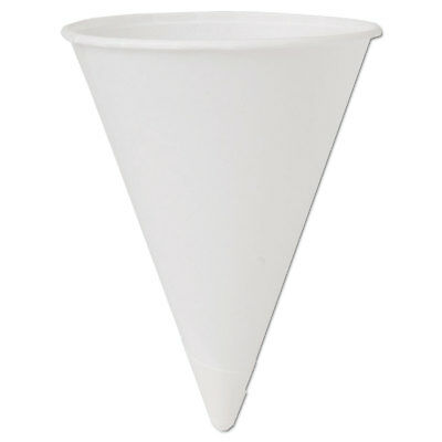 (Cone Water Cups, Cold, Paper, 4oz, White, 200/Bag, 25 Bags/Carton)