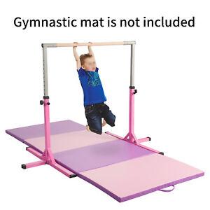 Pink Home Kids Adjustable Gymnastics Training Horizontal Bar Sports Equipment