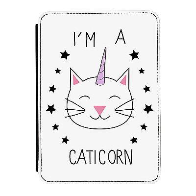 I'm A Caticorn Quote Unicorn Cat iPad Mini 1 2 3 PU Leather