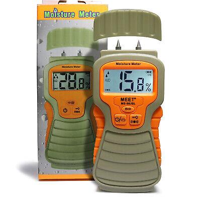Pin Pinless Moisture Meter Digital Wood Moisture Tester Non-invasive Pad