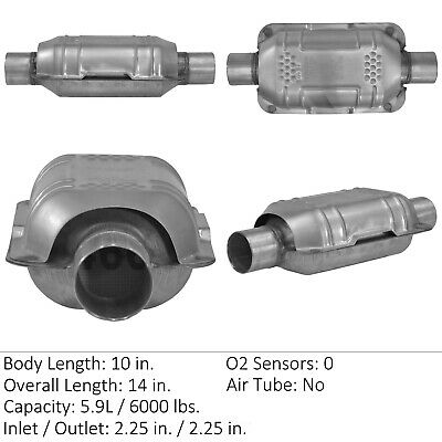 Catalytic Converter-Universal Eastern Mfg 70317 Geo Metro Universal Catalytic Converter