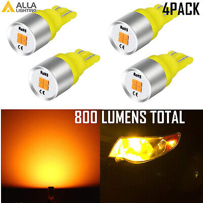 Cheap Charger Plates (Alla Lighting 4x LED Side Marker Light License Plate Tag Bulb Lamp Amber)