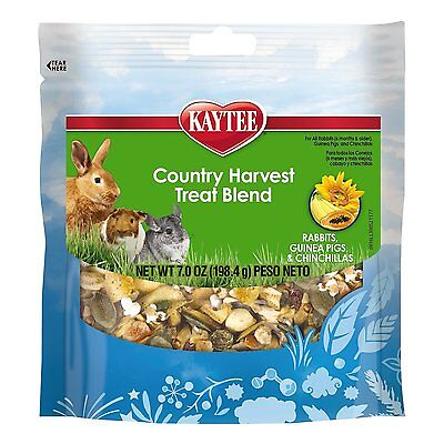 Kaytee Fiesta Country Harvest Blend Rabbit, Guinea Pig & Chinchilla Treats,7-oz