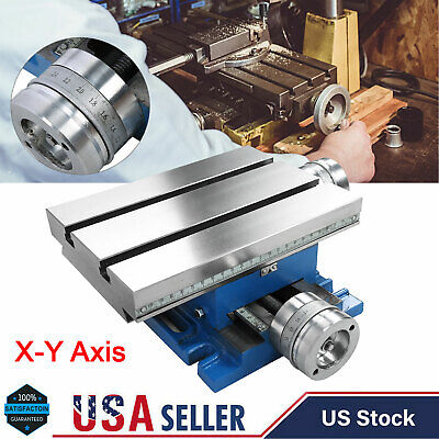 Xy Axis Compound Milling Machine Work Table Cross Slide Bench Drill Vise Fixture