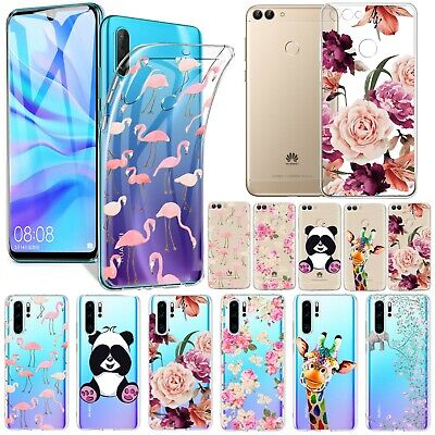 For Huawei P30 P20 Lite Y6/Y7 2019 P Smart Clear TPU Case Pretty Patterned Cover