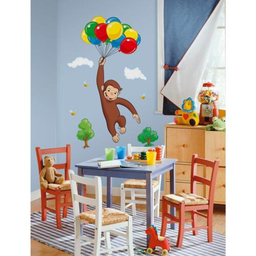 curious george wall stickers mural 10 decals monkey curious george wall decals 2017 grasscloth wallpaper
