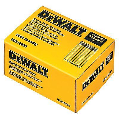 Dewalt 2-inch By 16 Gauge Straight Finish Nail 2500 Per Box Dcs16200