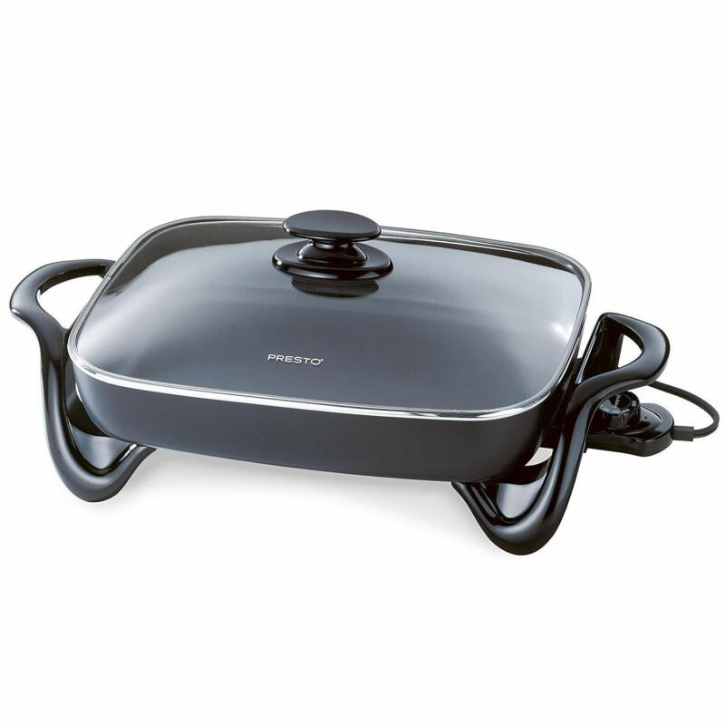 Presto 06852 16-Inch Electric Skillet with Glass Cover - Kit