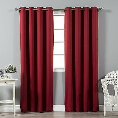 Best Home Fashion Thermal Insulated Blackout Curtains GROMMET Cardinal Red set
