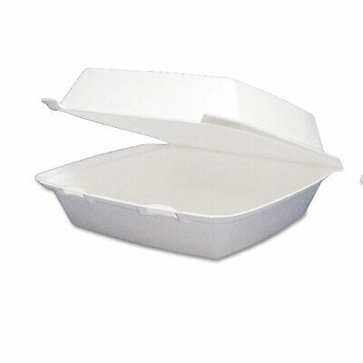 - Carryout Food Container, Foam Hinged 1-Comp, 9 1/2 x 9 1/4 x 3, 200/Carton