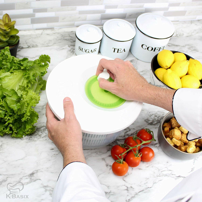 Large Salad Spinner 5 quart Vegetable or Lettuce Dryer, Keep