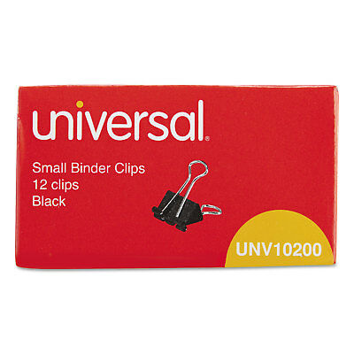 Universal Small Binder Clips 38 Capacity 34 Wide Black 12box 10200