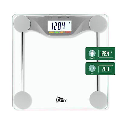 180kg/396lb Bathroom Geometric Digital Body Fat Weight Scale Safty Glass Fitness