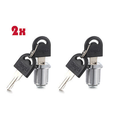 2pcs Drawer Cam Cylinder Door Mailbox Cabinet Craftsman Tool Box Cabinet 4 Keys