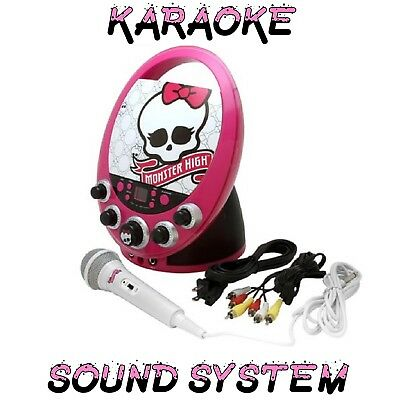 Karaoke Machine High Disco Monster Party Kids Fun CDG Gear Portable Sound System