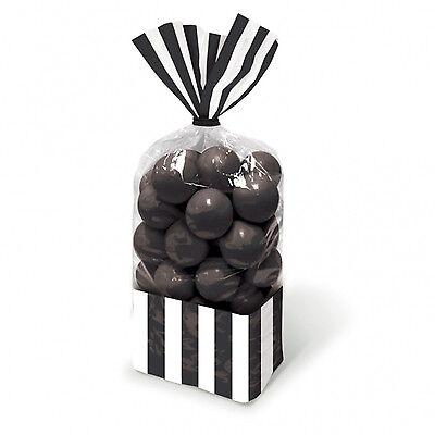 10 X Schwarz Candy Buffet Cellophan Beutel Halloween Trick Or Treat Taschen