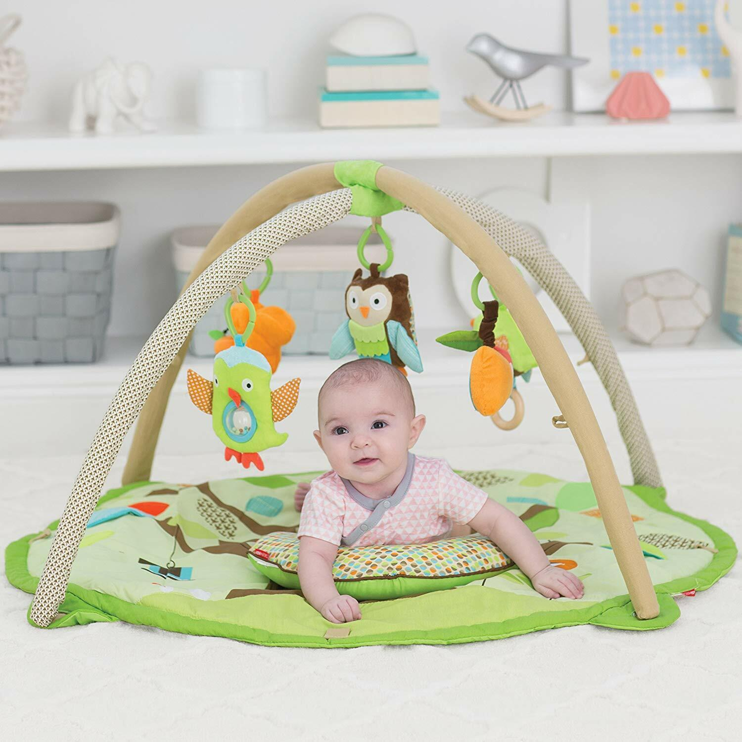 Skip Hop Baby Treetop Friends Activity Gym/Playmat, Multi 3D