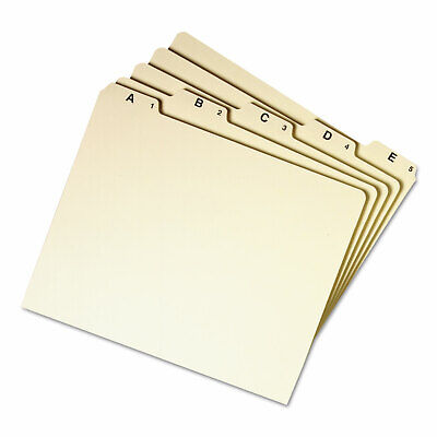 Smead Recycled Top Tab File Guides Alpha 15 Tab Manila Letter 25set 50176
