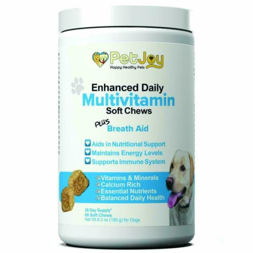 PetJoy Multivitamin Soft Chews Health Daily Vitamins & Minerals Plus Breath Aid