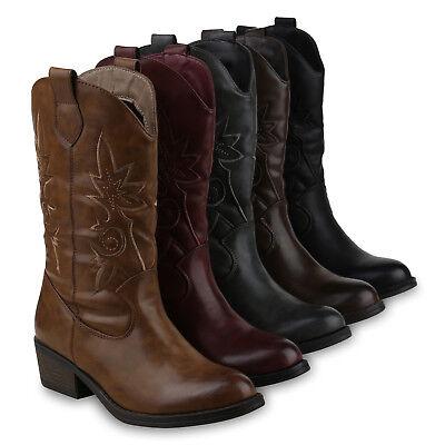 Damen Cowboystiefel Modische Western Stiefel Cowboy Boots 825658 Schuhe - Cowboy Western Stiefel