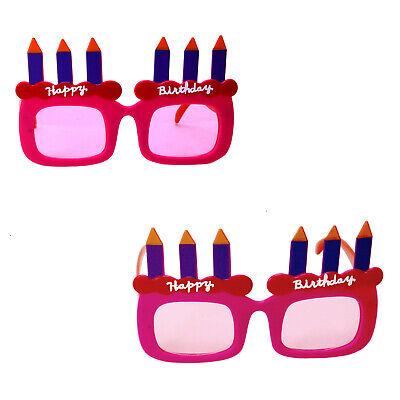 rthday Kerzen Partybrille Brille Party Mottoparty  (Happy Birthday Brille)