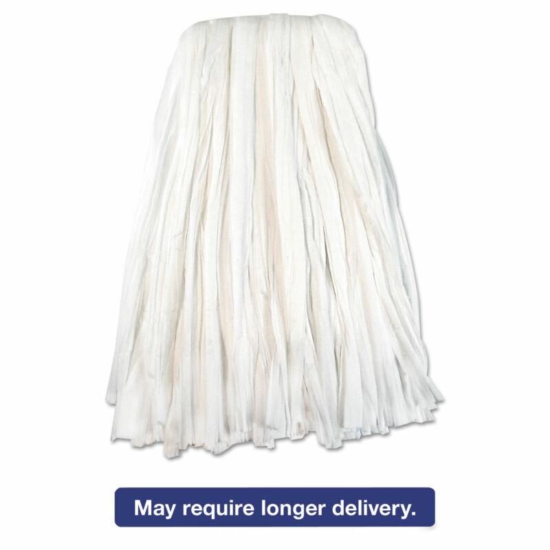Boardwalk Nonwoven Cut End Edge Mop Rayon/Polyester #20 White 12/Carton BW2020