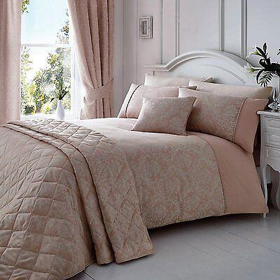Vintage Damask Jacquard Duvet Quilt Cover Bedding Set And Pillowcase King Size