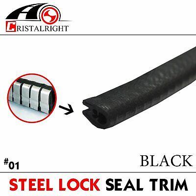 "180"" Rubber Seal Strip Lock Edge Trim Car Truck Door/Window Guard/Weatherstrip"