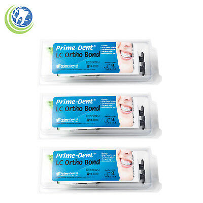 3x Prime-dent Dental Light Cure Orthodontic Resin Adhesive Ortho Bonding Paste