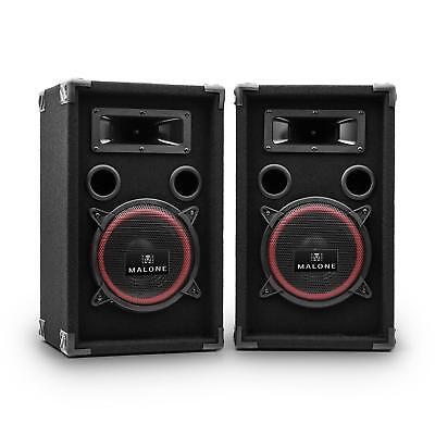 2x DJ/PA LAUTSPRECHER PARTY BOXEN BASS 20CM SUBWOOFER 1000W SOUND SPEAKER PAAR