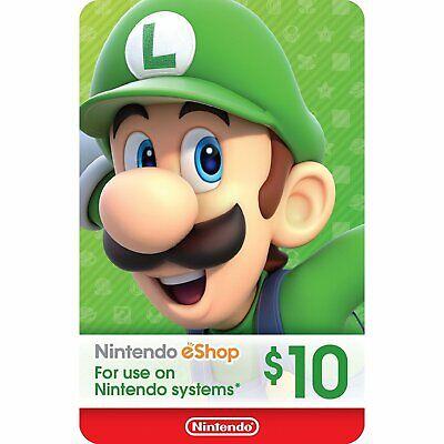Nintendo eShop gift card $10 USD Switch 3DS WiiU