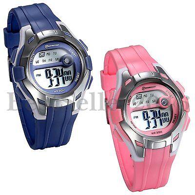 Pink Girls Watch - Children Waterproof Multifunction Wrist Watch Digital Alarm for Girls Boys Watch