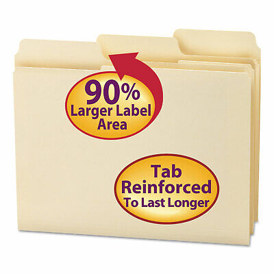 Smead Supertab Guide Height Reinforced Folders Top Tab Letter Manila 100box