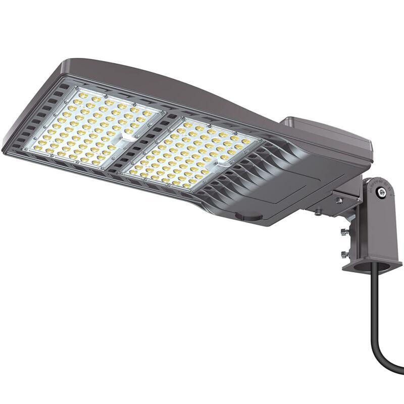 320W Led Shoebox Area Light Fixture Outdoor Commercial Parking Lot Pole Lights