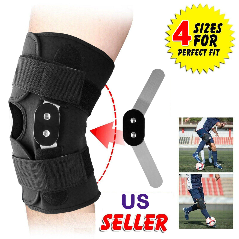 Adjustable Hinged Knee Patella Support Brace Sleeve Wrap Cap