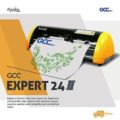 New GCC Expert Ⅱ24 Vinyl Cutter Plotter w/ FREE Software + FREE shipping