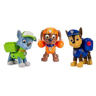 Nickelodeon, Paw Patrol - Action Pack Pups 3pk Figure Set Chase, Rocky, Zuma , N