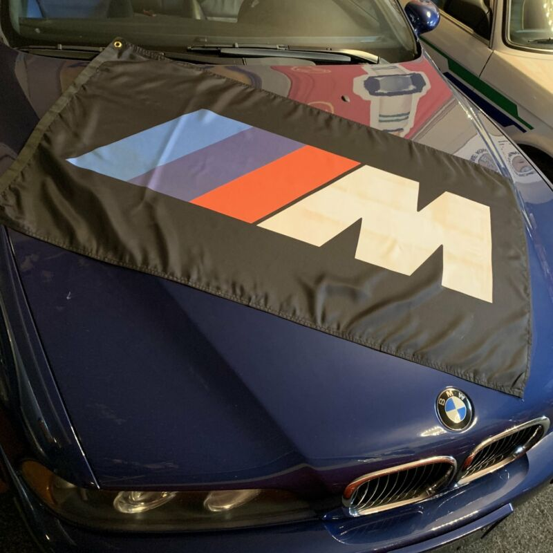 BMW /// M Banner - Black V8 3.8l autobahn m535i racing Mtek e24 turbo 850 csi M3