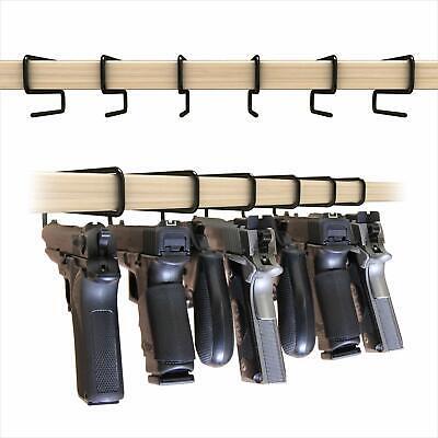 Non Slip Handy Gun Hangers for Shelves and Safes Works For All Handguns 6 Pack