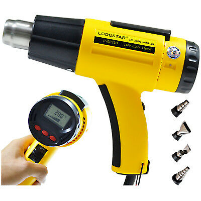 Hot Air Heat Gun 2000w 220v Lcd Digital Industrial Temperature Adjustable Nozzle